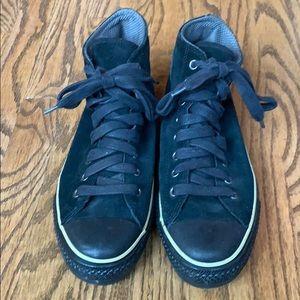 Men's Hi-top Converse AllStar Black Suede sneakers